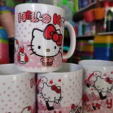 Hello kitty before coffee mug. 6 Pieces Hello Kitty Coffee Mug Hot Drinks Designer Mug Unique Pink Stuff Girly Cat Design Shopee Philippines