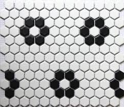 classic white mixed black hexagon flower pattern ceramic mosaic tiles kitchen backsplash wall bathroom wall and floor tiles in wallpapers from home