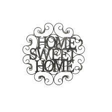 three hands metal sweet home wall decor