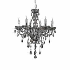 murano smoked chrome crystal chandelier