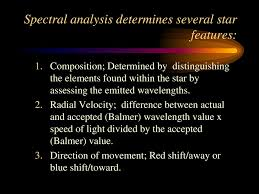 Spectral Analysis Of Light From Stars Spectral Analysis Of Stars Ppt Download