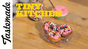 Tiny Kitchen How To Make Tiny Donuts Tiny Kitchen Youtube