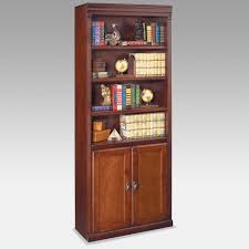 martin furniture huntington club wood bookcase with doors cherry hayneedle