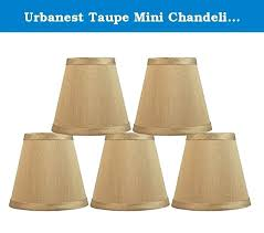 chandelier shades clip on urbanest taupe mini chandelier lamp shade 5 inch hardback clip on set chandelier shades clip