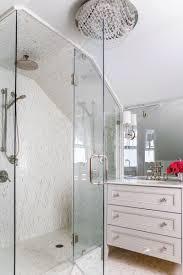 Bathroom : Tiny Airy Bathroom With Oval Bathtub With Glass Wall ...