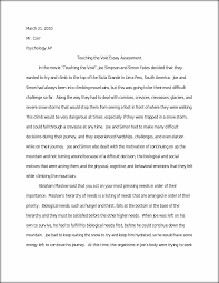 touching the void essay mr corr psychology ap this preview has intentionally blurred sections sign up to view the full version
