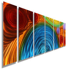 large blue orange and red abstract metal wall sculpture by jon allen 68  on abstract metal wall art sculpture with large blue orange and red abstract metal wall sculpture by jon