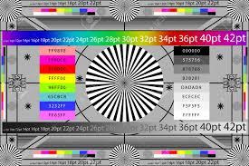 Adjusting Camera Lens Test Target Color Chart Tv Screen Background