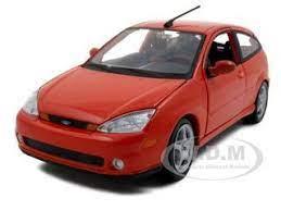 Ford Svt Focus Diecast Car Model 1 24 Orange Die Cast Car By Bburago Ford Svt Diecast Cars Car Model