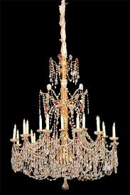 a massive 18th century 21 light genovese parcel gilt and crystal chandelier no 3047