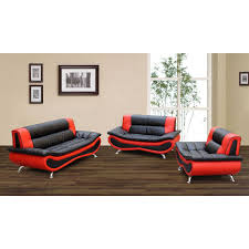 red leather living room furniture. Red And Black Living Room Set Beautiful Firestone 2 Tone Bonded Leather Furniture Sofa