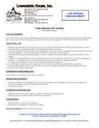 Resume Description Examples Fine Dining Server Resume Resume Badak Restaurant Server Resume 89