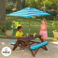 Kids Outdoor Dining Set  Round Table U0026 4 ChairsChildrens Outdoor Furniture With Umbrella