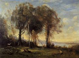 painting reion of goatherds on the borromean islands jean baptiste camille corot