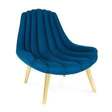 dusty deco brigitte navy lounge chair by jonathan adler