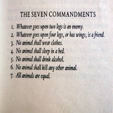 george orwell s animal farm the commandments  animal farm analysis essay essay on animal farm