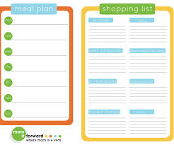 Free Weekly Meal Planner With Grocery List Splendiferous Check Out This Free Meal Planner In Shopping List