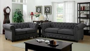 Leather Living Room Set Clearance Furniture Of America Cm6269gy Sf Cm6269gy Lv Stanford 2 Pieces