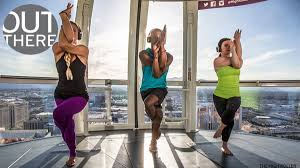 looking for a one of a kind yoga experience try a cl in las vegas s high roller observation wheel 550 feet above the strip