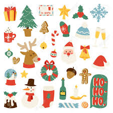 Pictures Of Merry Christmas Design Christmas Greeting Card Symbols Vector Winter Celebration Design