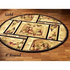 wine bottle round rug