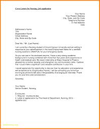 Cover Letter Sample For Job Application Nurse Graduate Nurse Email