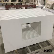 customized integrated solid surface bathroom vanity sink