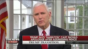 mike pence on hamilton statement i wasn t offended 9 45