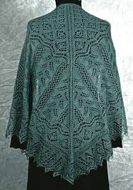 Knitted Shawl Patterns Custom Fern Glade Shawl A Lace Knitting Pattern