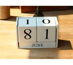diy home office desk. ShanZWH Wooden Creative Desktop DIY Calendar Block For Home Office Desk Ornaments (White) - Diy