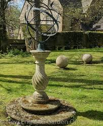 a sundial used at a focal point in the garden always gives such plere and none more than armillary sundials they connect us with celestial movements