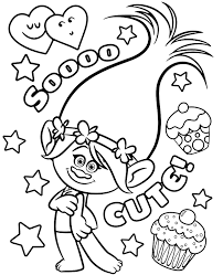 Free printable trolls coloring pages. Trolls Coloring Page Poppy Topcoloringpages Net