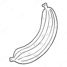 Banane De Dessin Anim Noir Et Blanc Image Vectorielle