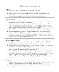 Sample Summary Statement Resume Resume Summary Statement Examples Career Change Executive Director