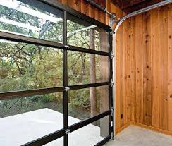 clear garage doorsAluminum Full View Glass Garage Doors On Restaurant Clear Door All