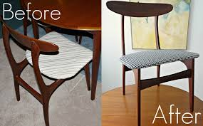 How To Reupholster Dining Chairs DIY Houndstooth Upholstered Amazing Reupholstered Dining Room Chairs