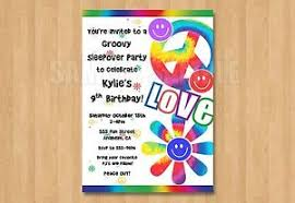 Details About 10 Tie Dye Peace Hippyteen Birthday Invitations 5th 8th 10th 15th 16th 18th