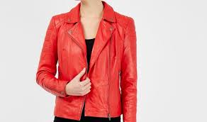 look hot bold with women s red leather jacket