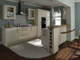 Second Nature Kitchen Doors Kitchen Cream Gloss With Nice Blue Walls Ideas For The House