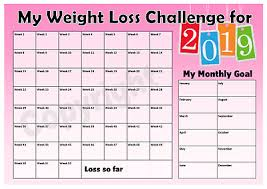 Slimming World Weight Loss Chart Weight Loss Challenge 2019 Chart Keep Track Of Your Loss