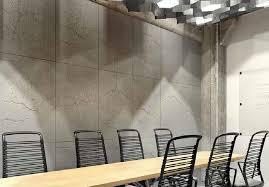 concrete industrio loft panel light brown paint finish conference room
