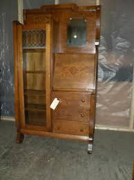 antique drop front secretary desk with hutch antique furniture