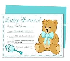 Invoice Template Word For Teddy Bear Store Inspirational Baby Shower