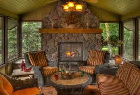 four season porch with fireplace ideas