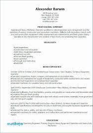 Machine Operator Resume Stunning Equipment Operator Resume Resume