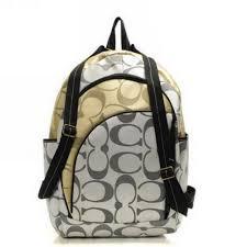 Coach Bleecker In Signature Medium Grey Backpacks HQ720319 CUZ