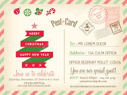 vintage merry christmas holiday postcard background vector vector vintage merry christmas holiday postcard background vector template for party greeting card
