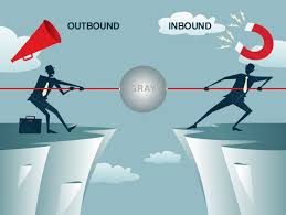 Inbound Vs Outbound Marketing Six Degrees Inbound Marketing Outbound Marketing And The Gray