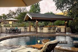 backyard pool and outdoor kitchen designs. Contemporary Designs Pool X Outdoor Kitchen With Backyard And Designs
