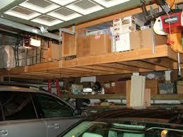 impressive decoration diy hanging garage shelves this overhead storage platform was built in less than a